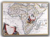 Coronelli, Vincenzo: Map of Africa. Antique/Vintage 17th Century Map. Fine Art Canvas. Sizes: A4/A3/A2/A1 (003878)